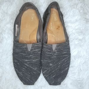 Toms Grey Slip On Shoes 8